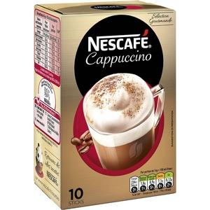 Nescafé cappuccino sélection gourmande 10 sticks 125g