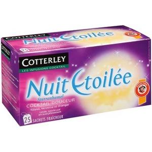 Infusion nuit etoilée 25 sachets cotterley