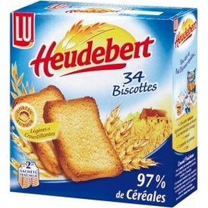 Biscottes salées heudebert 34 tranches 300g