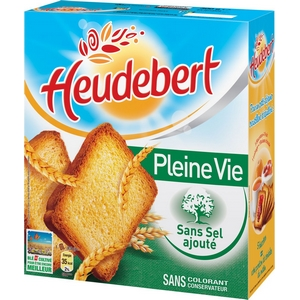 Biscotte sans sel heudebert 34 tranches 300g