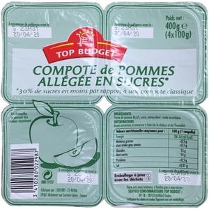 Top budget compote de pomme 4x100g