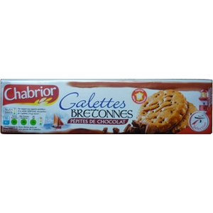 Chabrior galettes bretonnes pépites de chocolat 130g