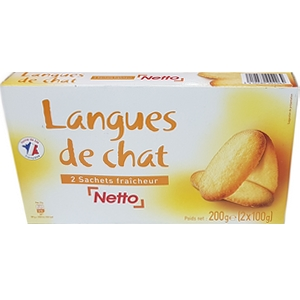 Netto langues de chat 200g