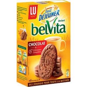 Lu belvita biscuits petit déjeuner chocolat 400g