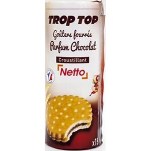 Netto trop top goûters fourrés chocolat 300g