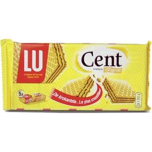 Lu cent wafer fourrées gauffrettes ctroustillantes au chocolat 5x45g