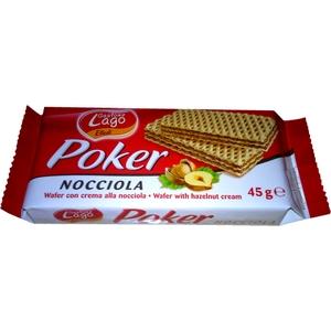 Gauffrettes fourrées aux noisettes poker 45g