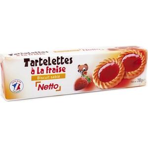 Netto tartelette fraise 200g