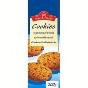 Top budget cookies pépites de chocolat 200g