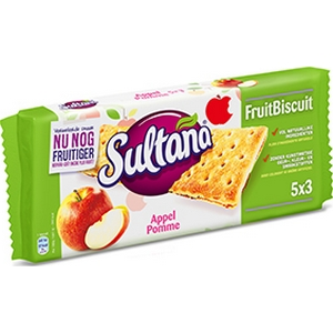 Sultana fruits pomme 5x3 218g