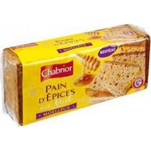 Chabrior pain d'épices moelleux au miel 350g