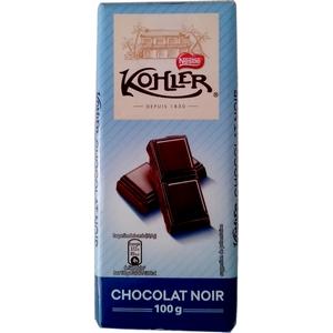 Kohler tablette de chocolat chocolat noir 100g