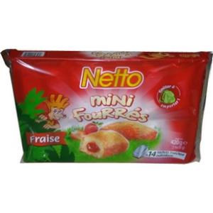 Netto mini moelleux fraisse cœur fondant 14x30g 420g