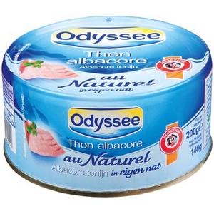 Odyssée thon albacore au naturel 140g