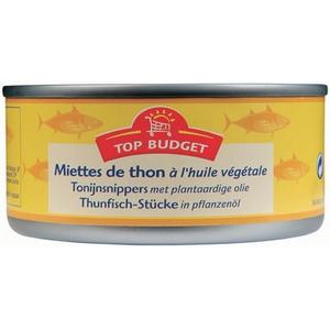 Top budget miettes de thon à l'huile végétale 160g