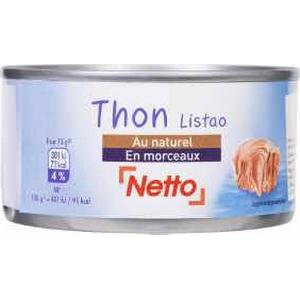 Netto thon naturel en morceaux 200g