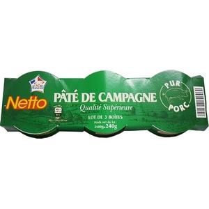 Netto pâté campagne lot 3x80g 240g