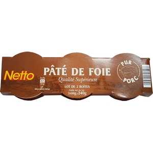 Netto pâté foie lot 3x80 240g