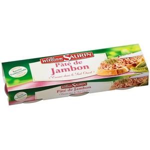 W. saurin pâté de jambon 3x76,5g