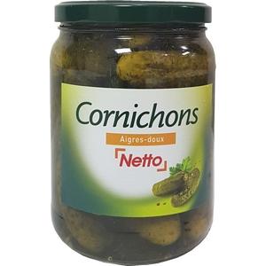 Netto cornichons aigres-doux 850ml