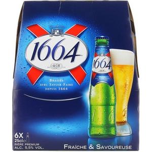 Bière 1664 blle 6x25cl 0.5% vol.