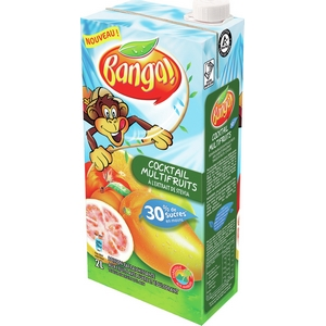 Banga jus cocktail multifruits à l'extrait de stévia 2l