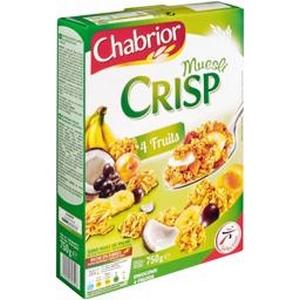 Chabrior céréales muesli crisp 5 fruits 500g