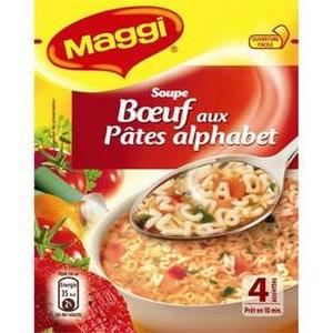 Maggi soupe boeuf aux pâtes alphabet 46g