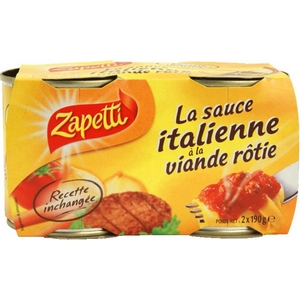 Zapetti sauce italienne 2x190g