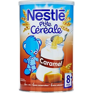 Nestlé p'tite céreale caramel des 6 mois 400g