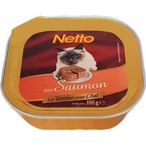 Netto pâtée pour chat au saumon 100g