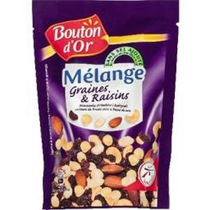 Bouton d'or mélange graines et raisins 150g