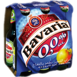 Bière sans alcool bavaria pomme 6x33cl
