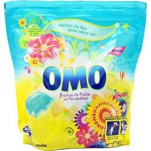 Lessive capsules omo festival de fruits et fleurs d'ete x32 841g