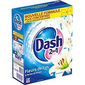 Lessive en poudre dash 2en1 fleurs de lotus 40 doses