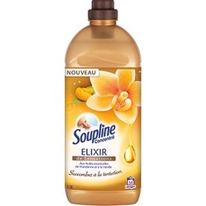 Soupline adoucissant elixir sensations aux huiles essentielles de mandarine et à la vanille 1,3l 52 doses