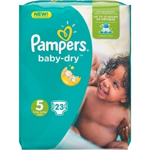 Pampers couches pampers baby dry n°5 11-16kg x23