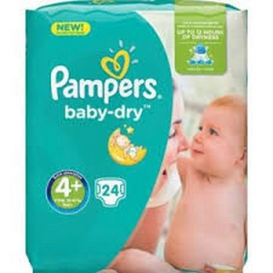 Pampers couches baby-dry n 4 plus x41 de 9-18kg