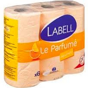 Labell papier toilette parfumé agrumes 6 rlx