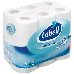 Labell papier toilette blanc 12rlx