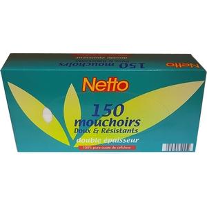 Netto 150 mouchoirs double épaisseur