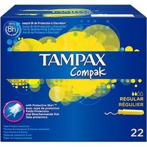 Protection hygiénique Tampax régulier X22 8h