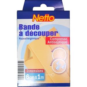 Netto bande à découper hypoallergénique 6cm x 1m