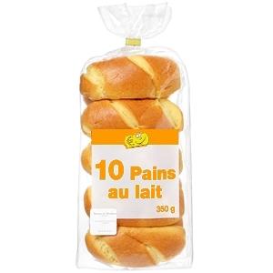 Petits pains au lait nature x10 180g