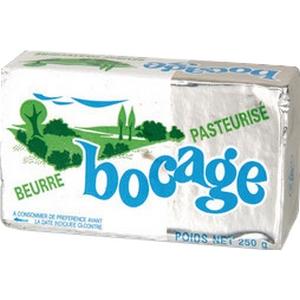 Bocage beurre doux 82% matière grasse 250g