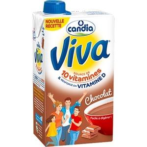 Candia viva lait 1/2 écrémé au chocolat 10 vitamines 1l