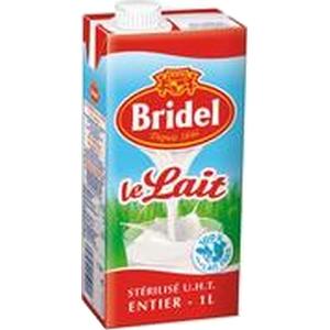 Bridel lait entier brique 1l