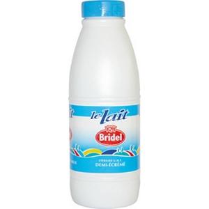 Bridel lait 1/2 écrémé bouteille 1l