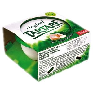 Fromage à tartiner tartare original ail et fines herbes 150g