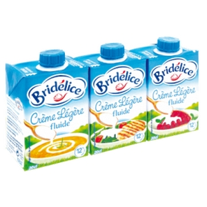 Crème légère fluide bridélice 3x20cl